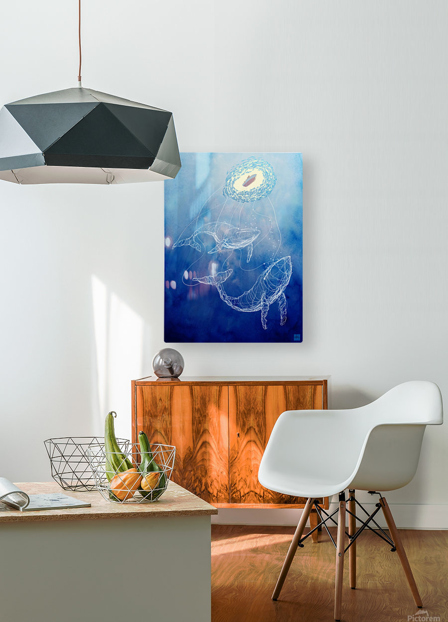 Moby Dick  HD Metal print with Floating Frame on Back