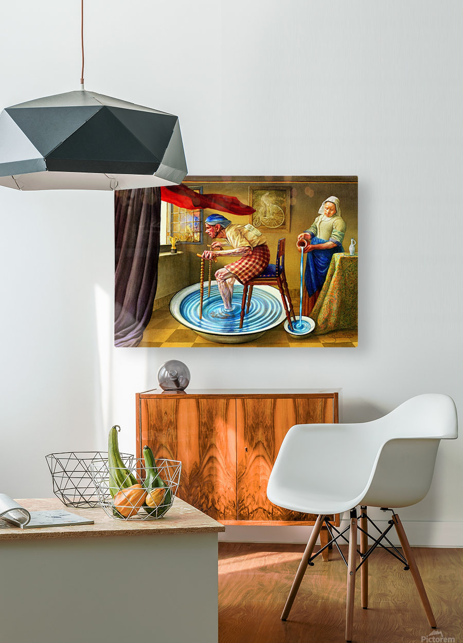 Cycling by Krzysztof Grzondziel  HD Metal print with Floating Frame on Back