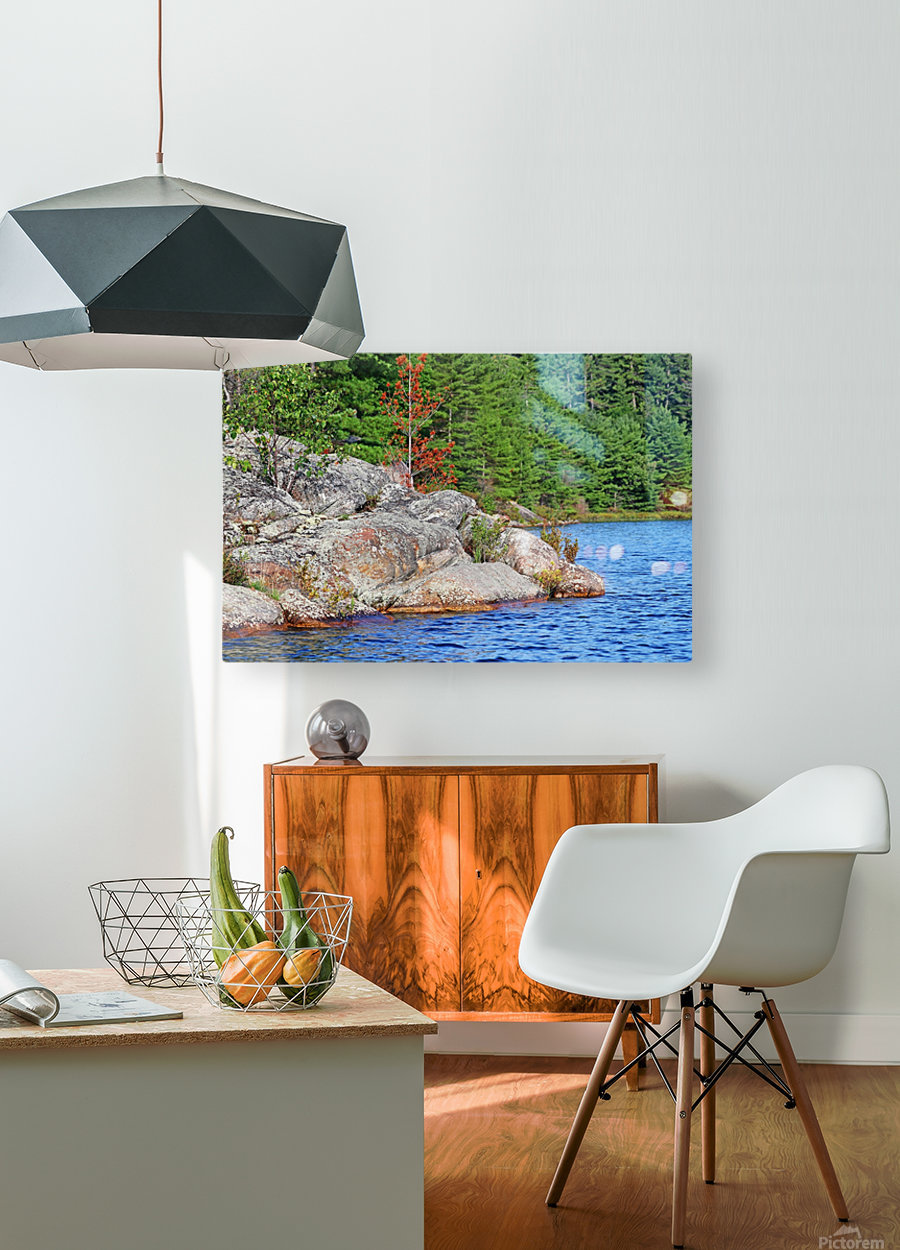 Shawanaga Rock Formation  HD Metal print with Floating Frame on Back