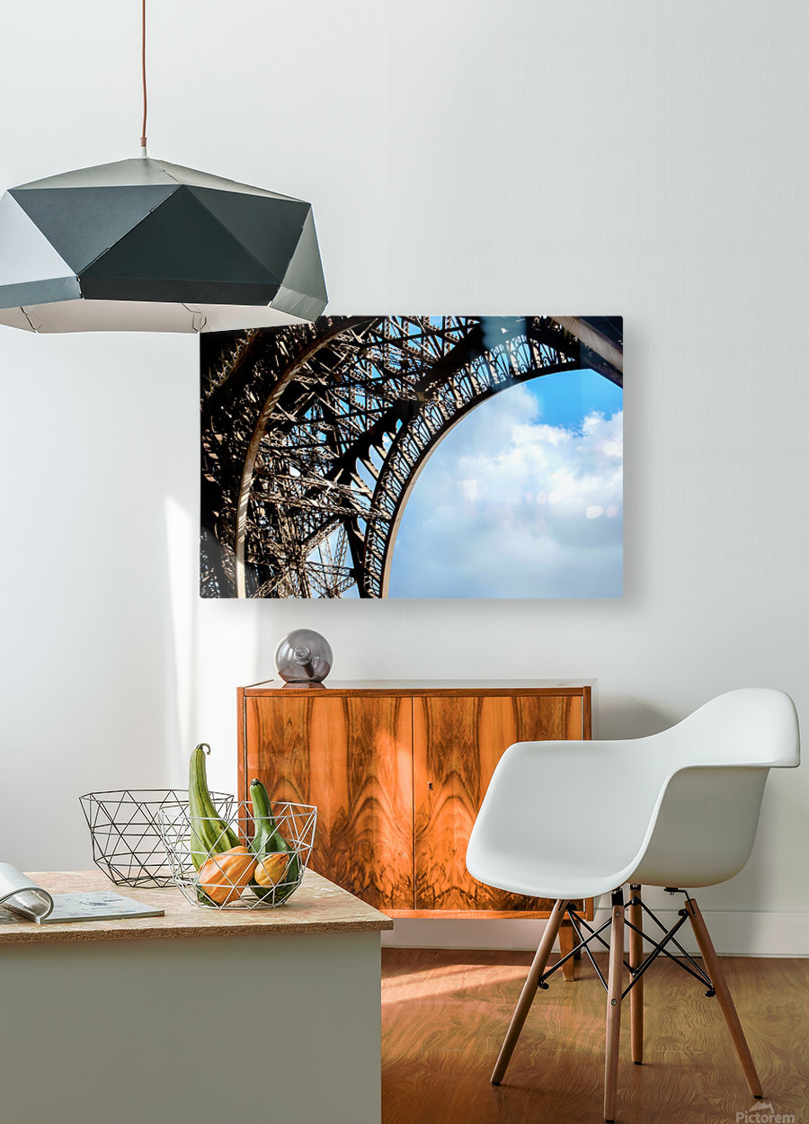 The Eiffel Tower   HD Metal print with Floating Frame on Back