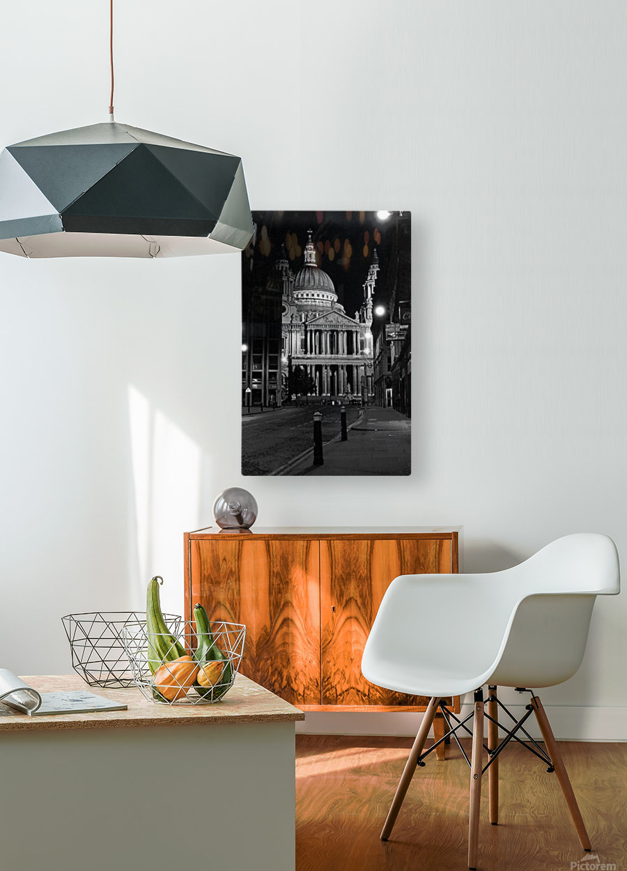 St. Paul's Cathedral London  HD Metal print with Floating Frame on Back