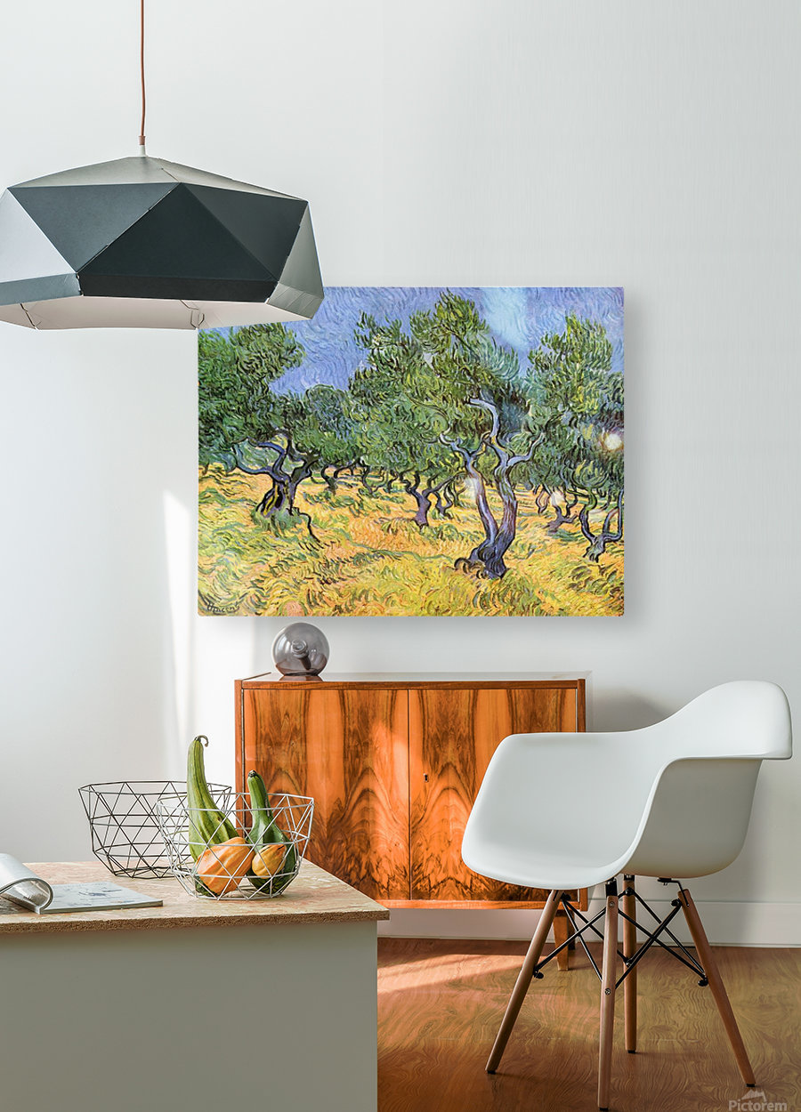 Olive Trees by Van Gogh  HD Metal print with Floating Frame on Back