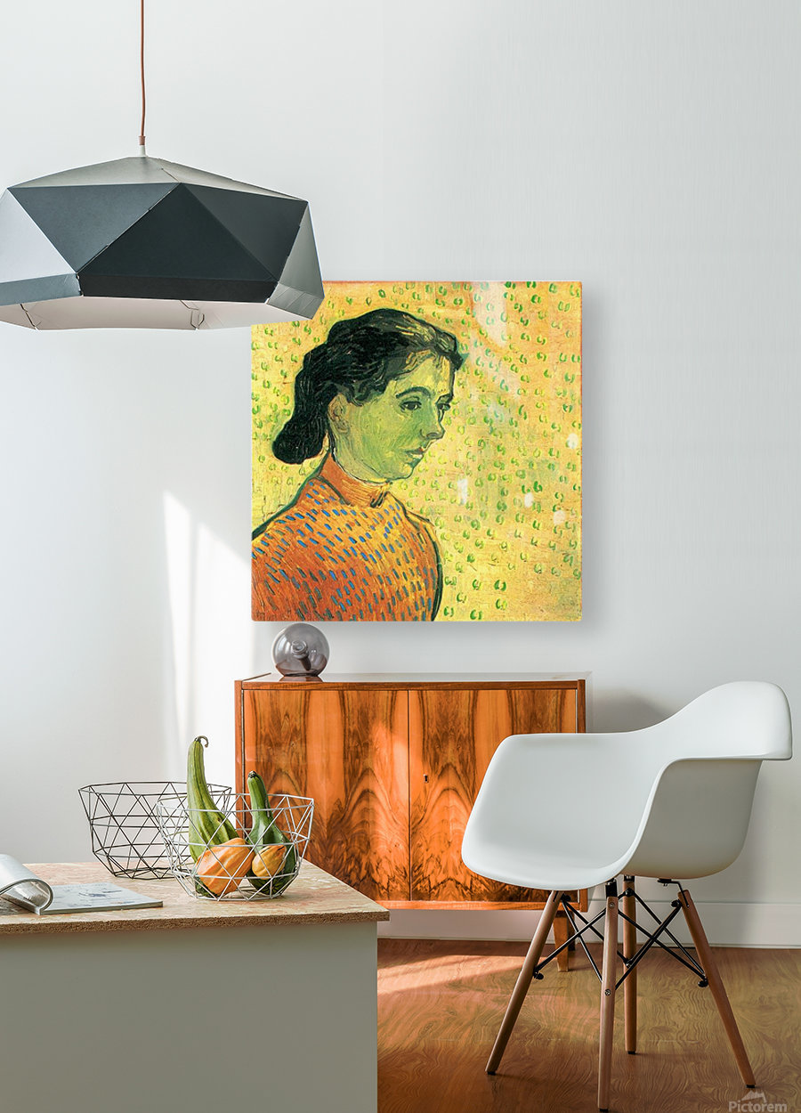 Portrait of a girl by Van Gogh  HD Metal print with Floating Frame on Back