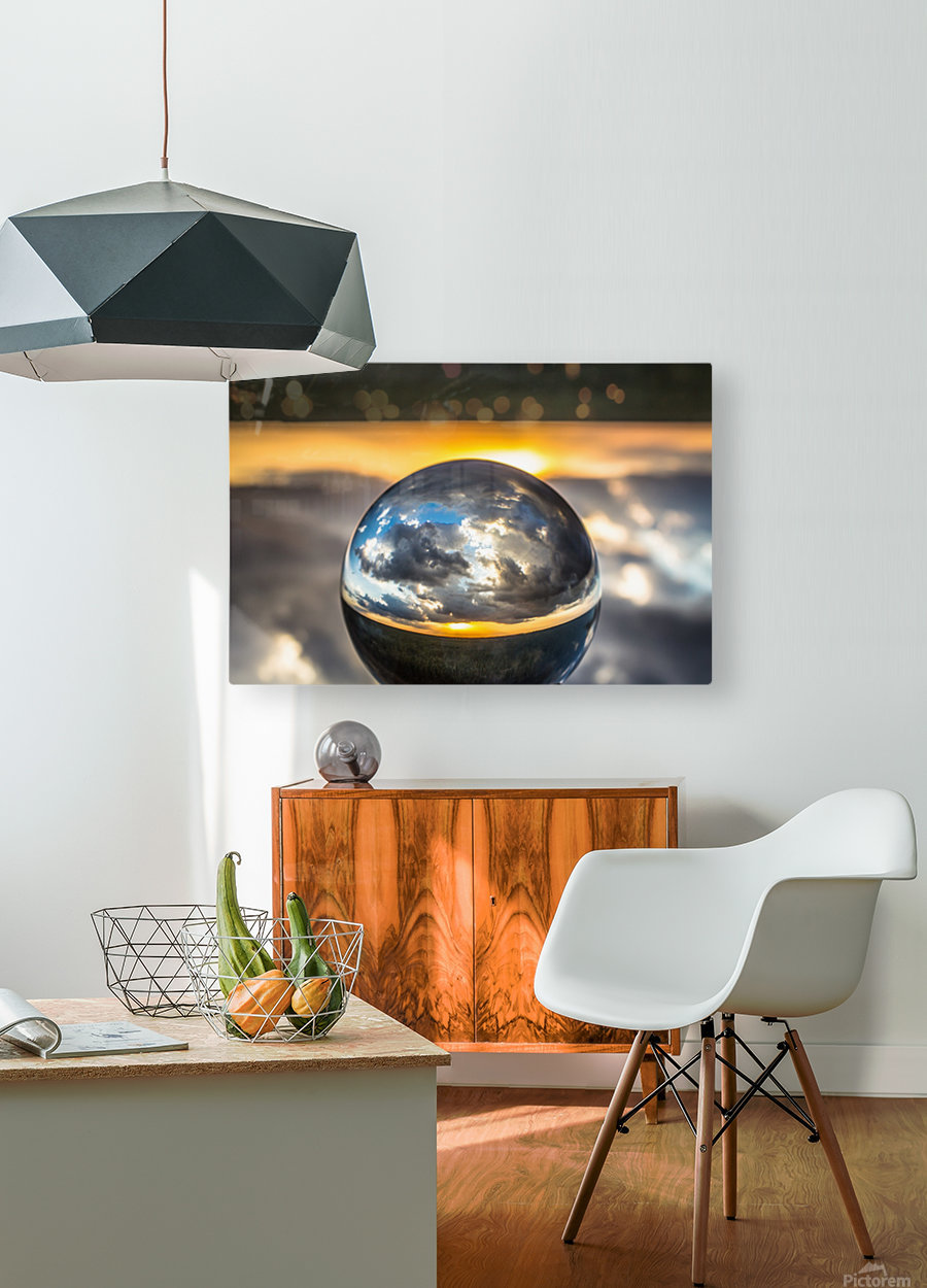 Lens Ball5  HD Metal print with Floating Frame on Back