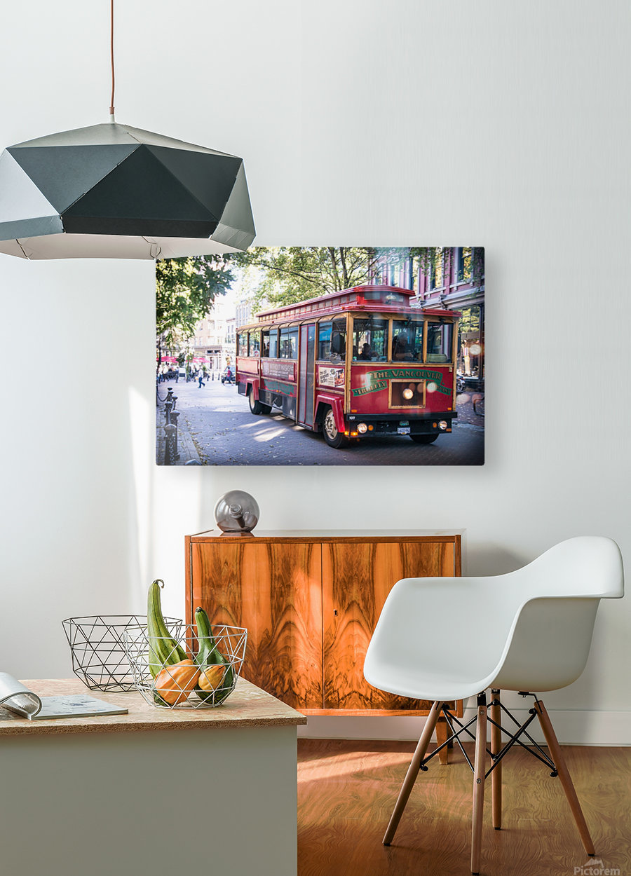 Vancouver Trolly  HD Metal print with Floating Frame on Back