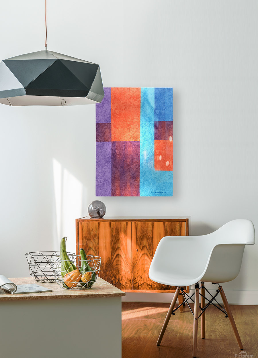 Abstract Geometric Space 3  HD Metal print with Floating Frame on Back