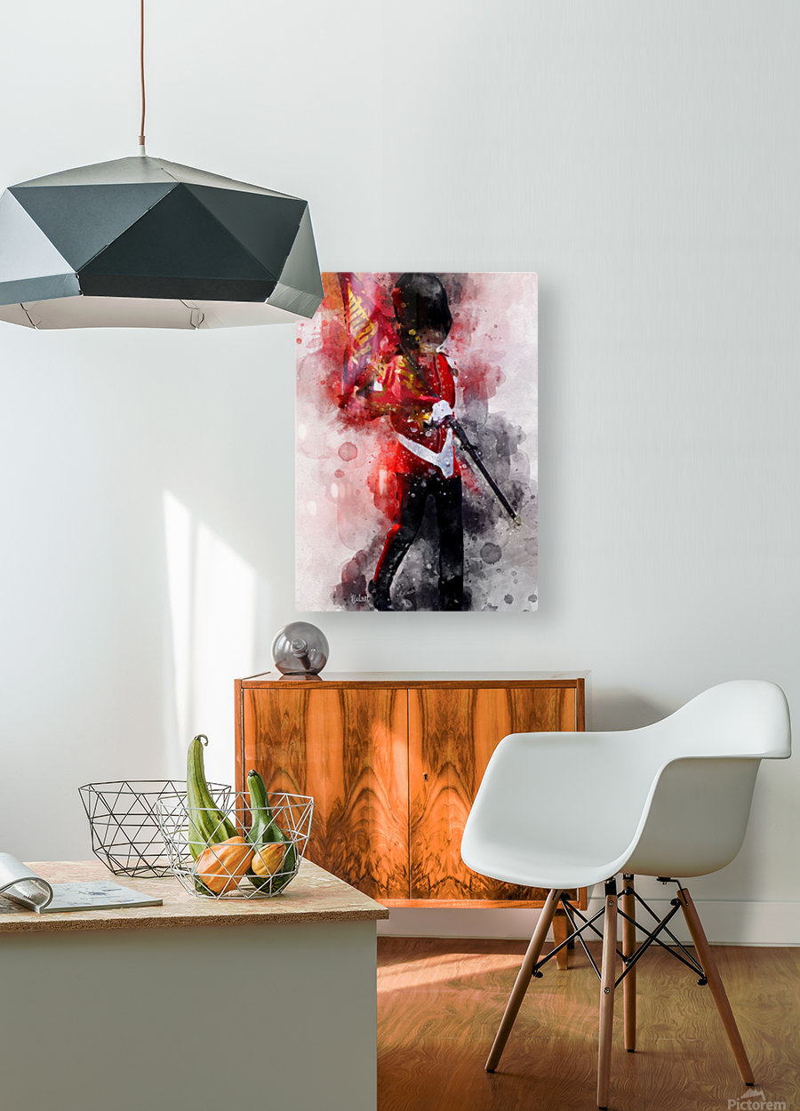 The Queens Guard  HD Metal print with Floating Frame on Back