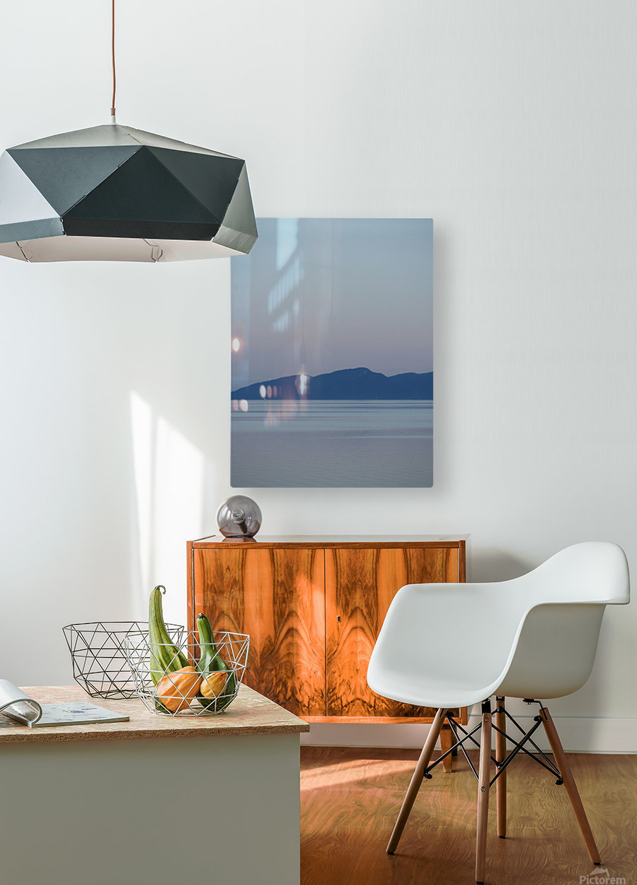 Evening at Transfer Beach  HD Metal print with Floating Frame on Back