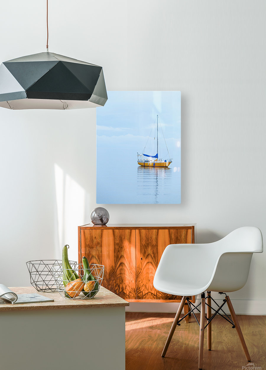 Where the ocean meets the sky  HD Metal print with Floating Frame on Back