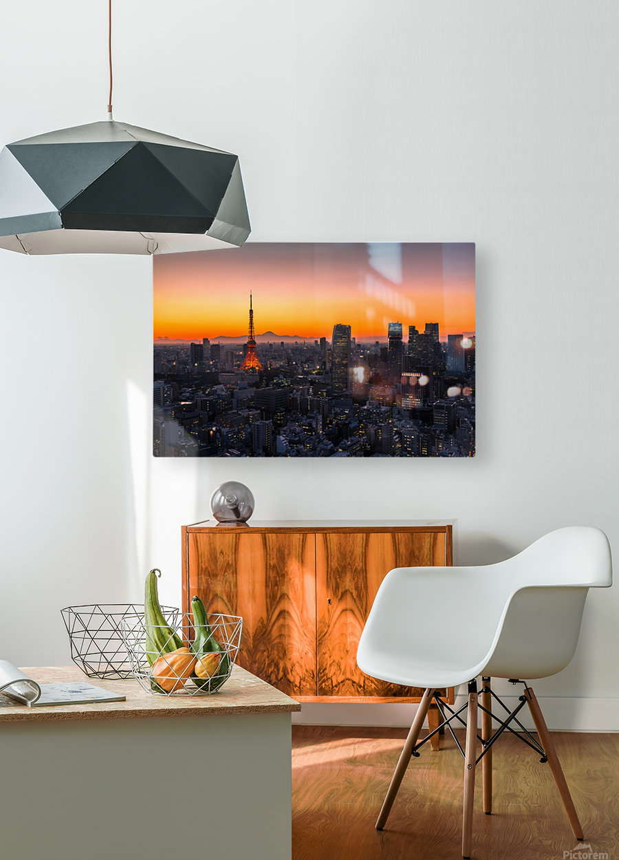 TOKYO 01  HD Metal print with Floating Frame on Back