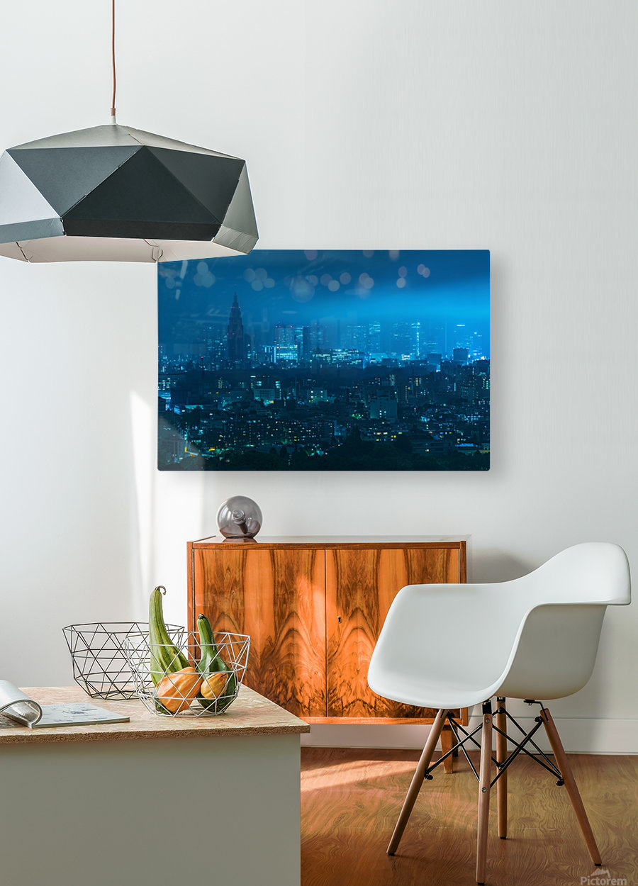 TOKYO 21  HD Metal print with Floating Frame on Back