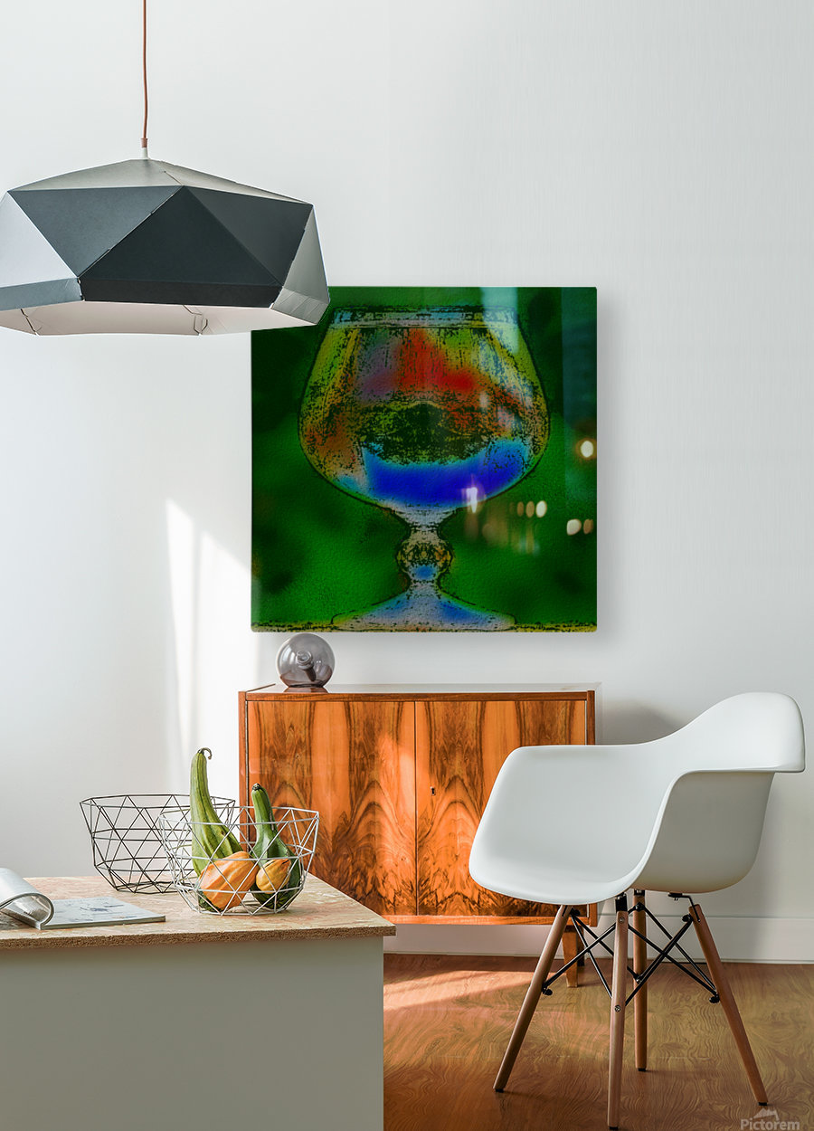REFRACTION  HD Metal print with Floating Frame on Back