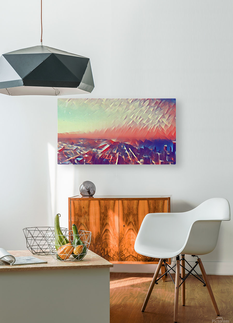 Beautiful Sky  HD Metal print with Floating Frame on Back