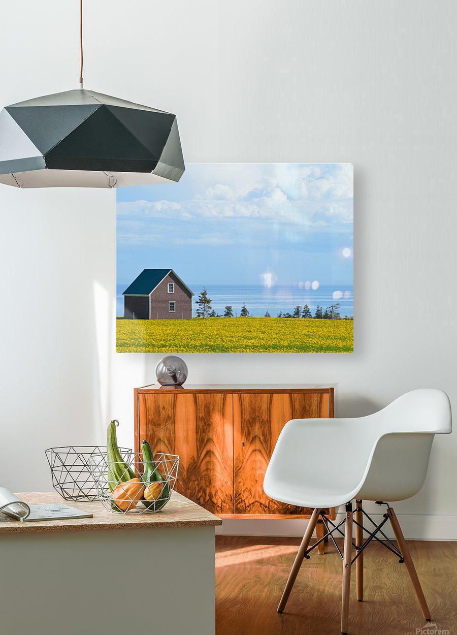 Prince Edward Island landscape  Impression métal HD avec cadre flottant sur le dos