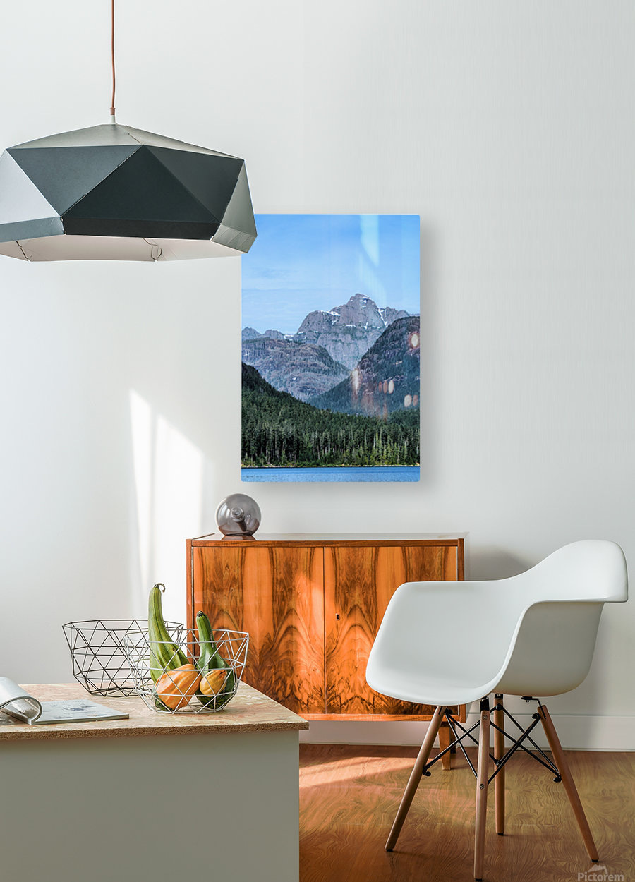 Peaks of Strathcona park  HD Metal print with Floating Frame on Back