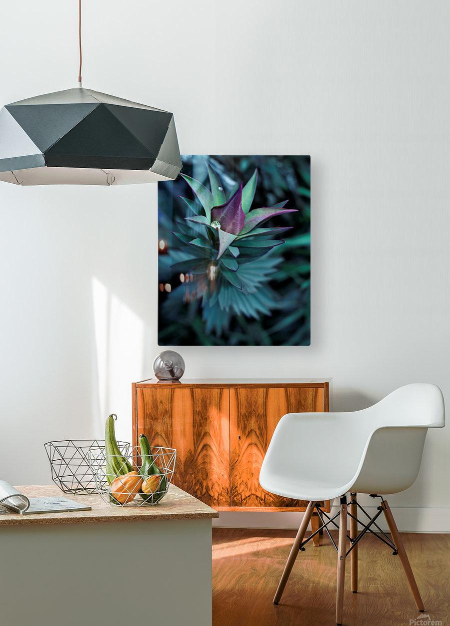 Funky flora  Impression métal HD avec cadre flottant sur le dos