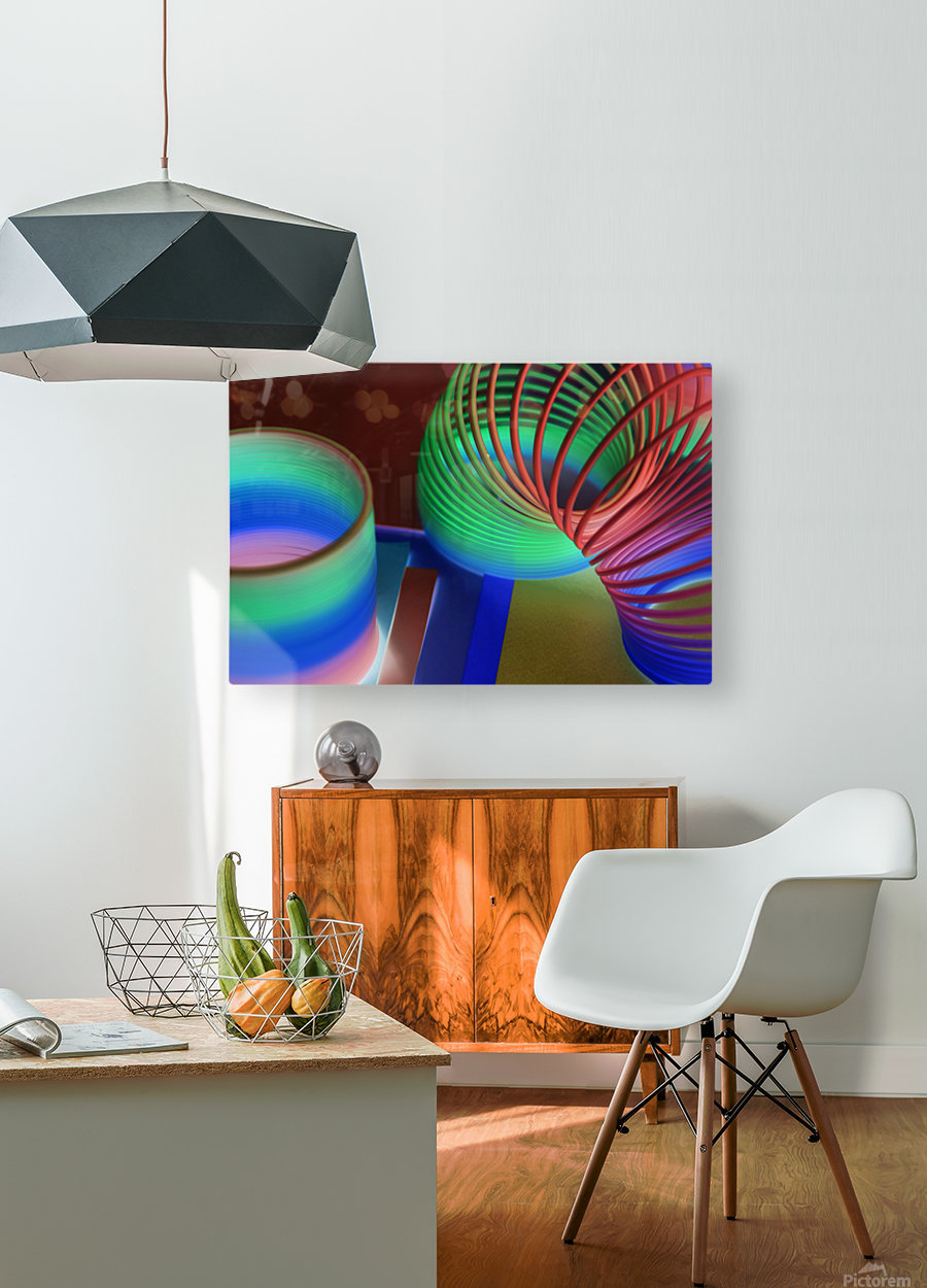 loopy  HD Metal print with Floating Frame on Back