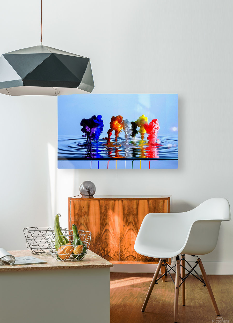drizzles  HD Metal print with Floating Frame on Back
