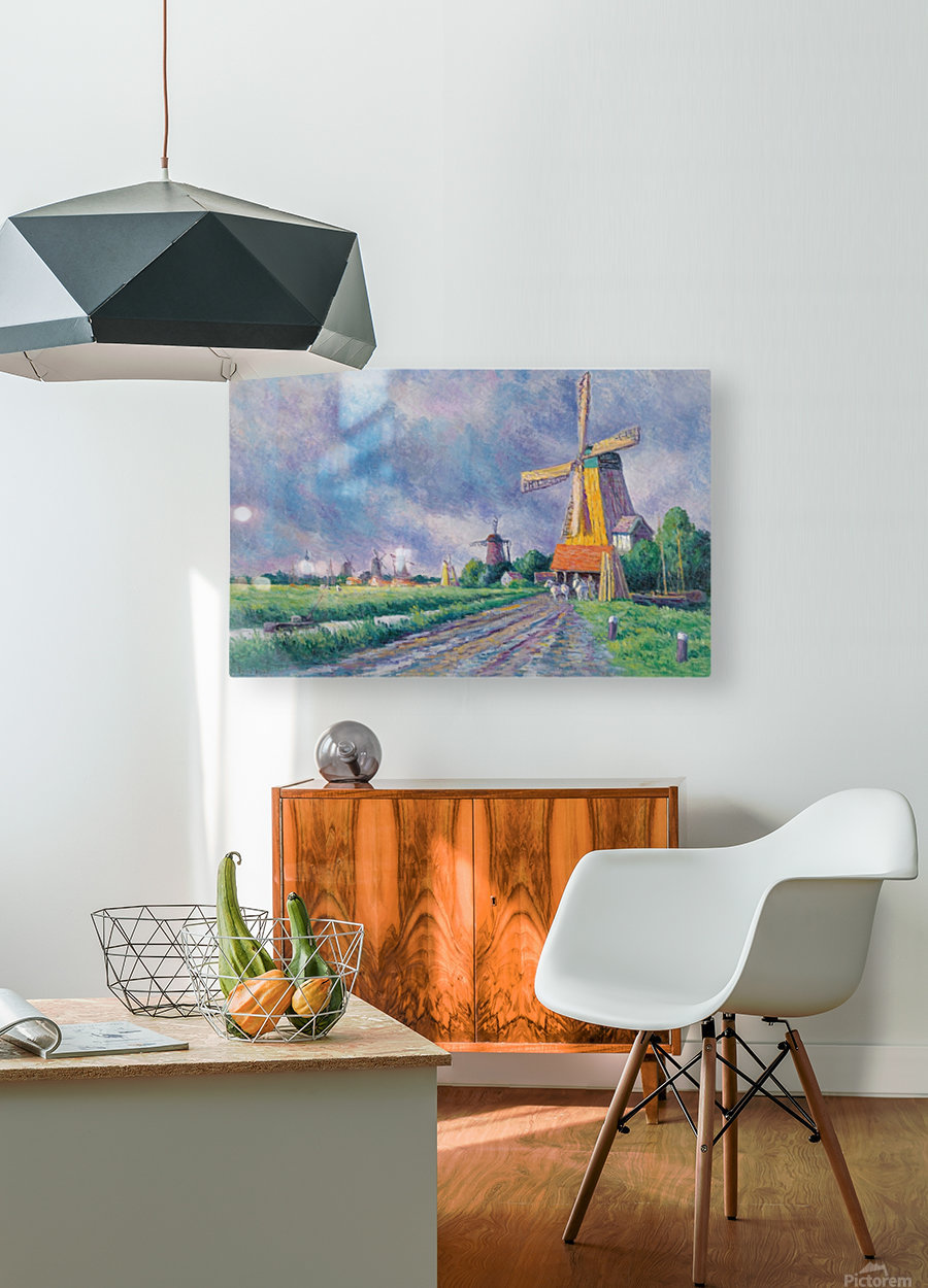 Outskirts of Rotterdam  HD Metal print with Floating Frame on Back