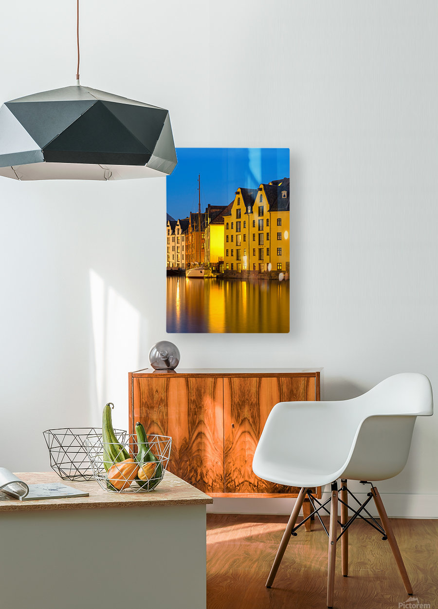 ÅLESUND 12  HD Metal print with Floating Frame on Back