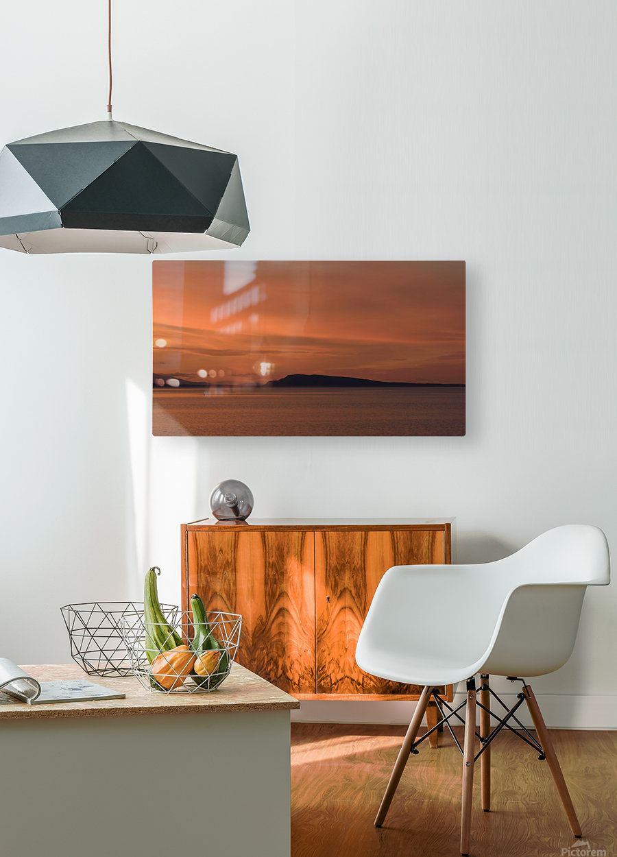 Summers end  HD Metal print with Floating Frame on Back