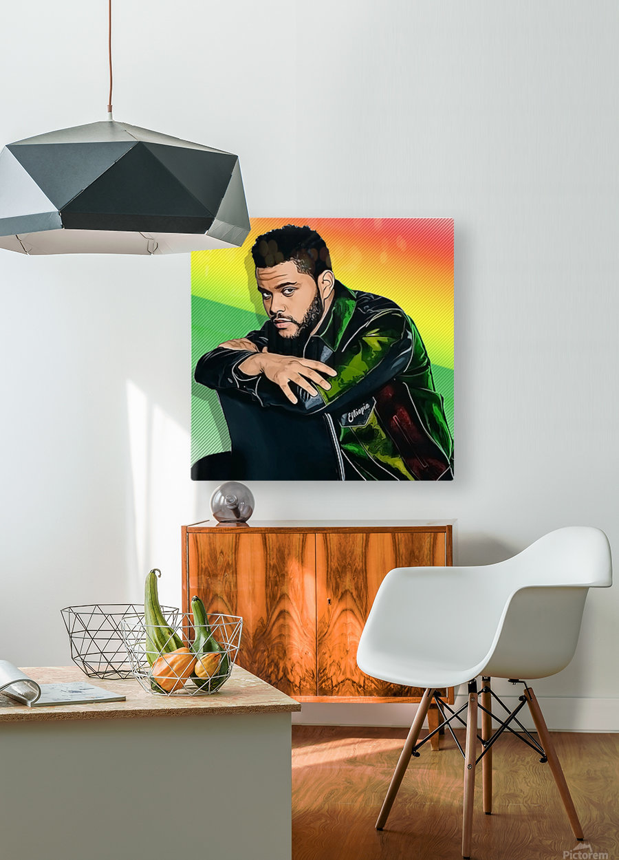 The Weeknd  HD Metal print with Floating Frame on Back