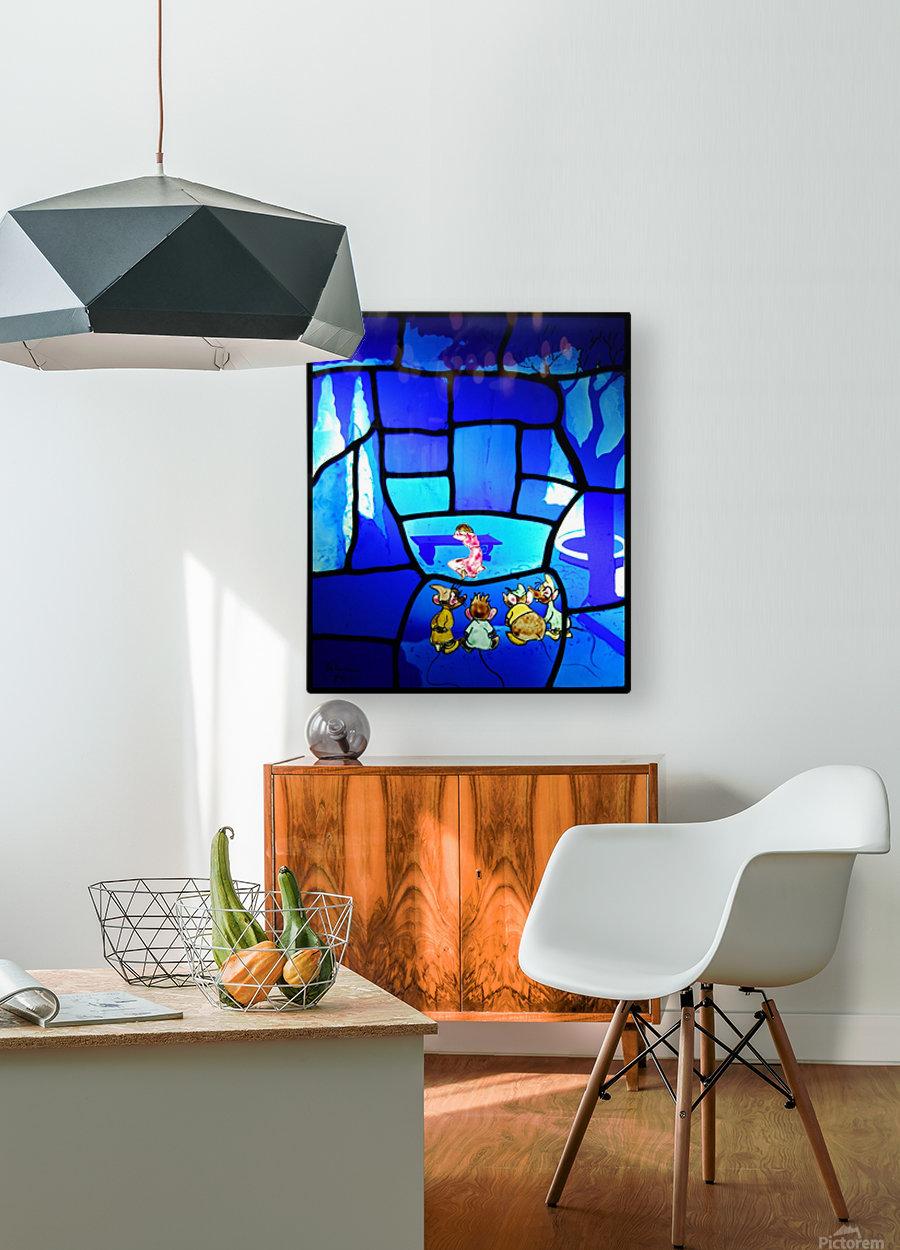 cinderella 2  HD Metal print with Floating Frame on Back