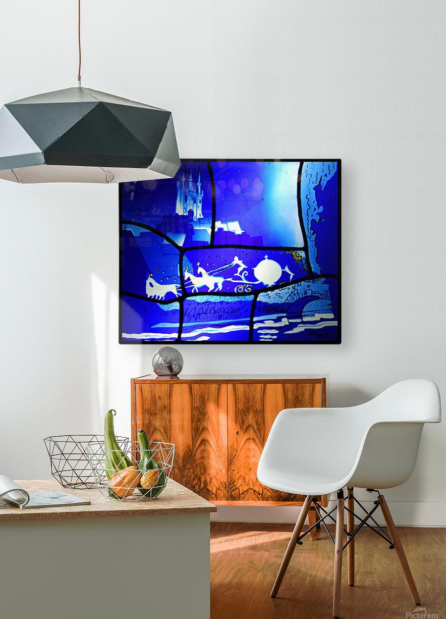 cinderella  HD Metal print with Floating Frame on Back