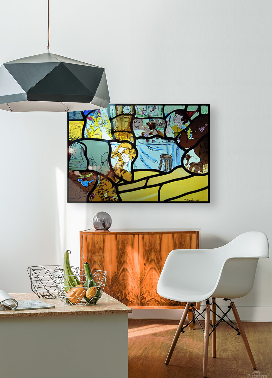Winnie the Pooh  HD Metal print with Floating Frame on Back