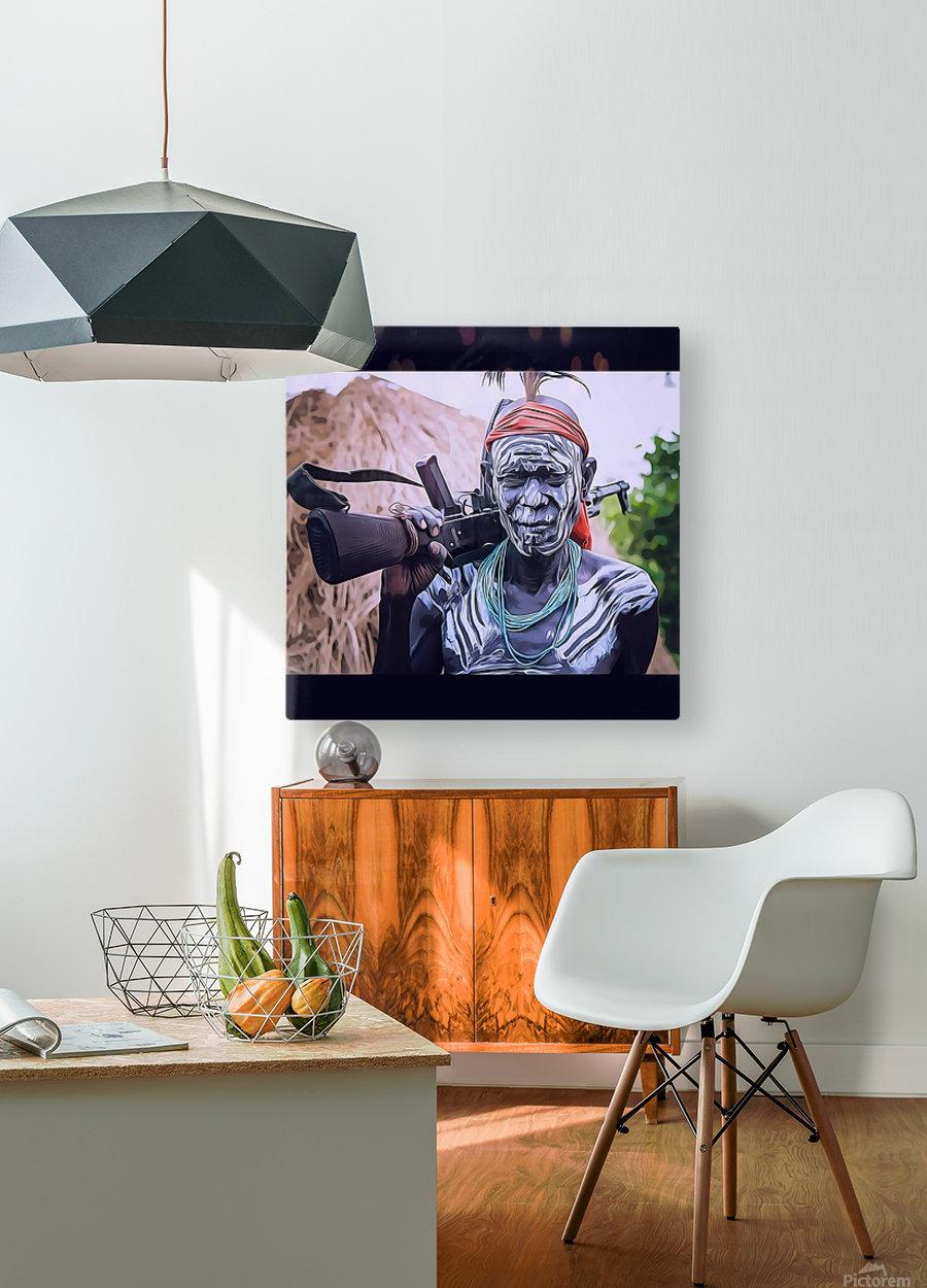 Afar Warrior  HD Metal print with Floating Frame on Back