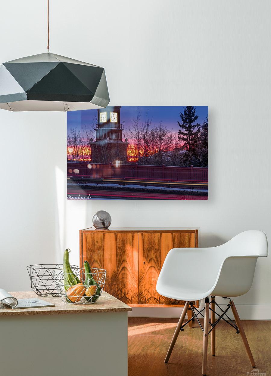 StAlbertTrail_StAlbertClock_Jan18_IMG_6032  HD Metal print with Floating Frame on Back