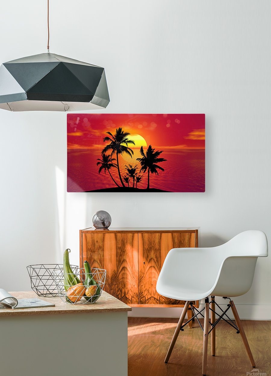 tropical 1651423  HD Metal print with Floating Frame on Back