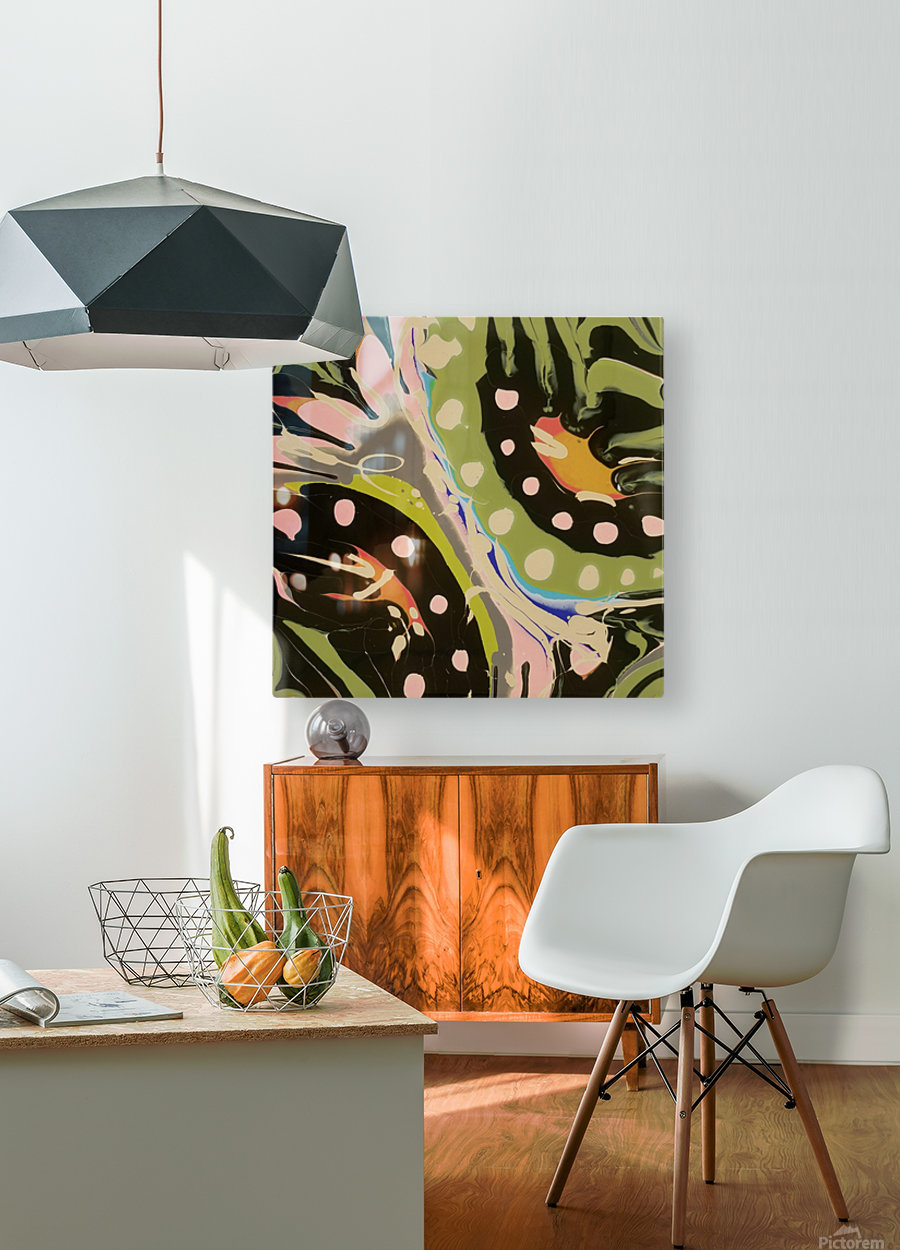 Tropical Branch Bamboo  HD Metal print with Floating Frame on Back