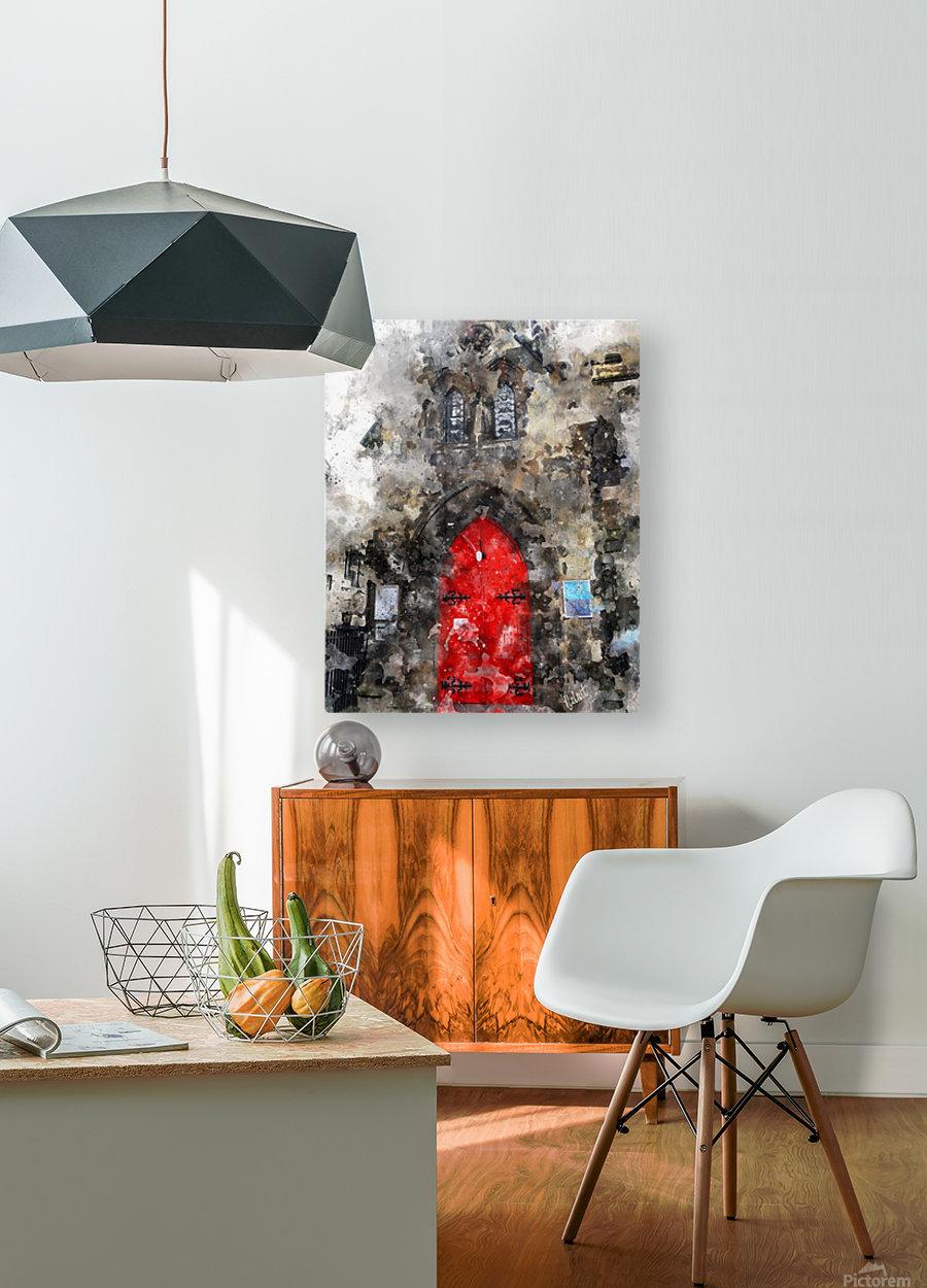 Red Door Edinburgh  HD Metal print with Floating Frame on Back