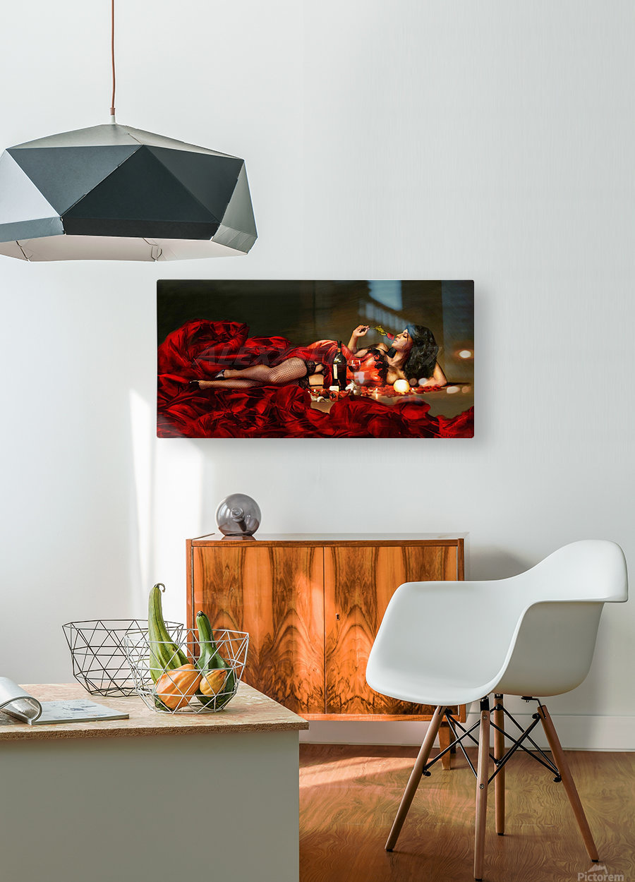 Red of the red  HD Metal print with Floating Frame on Back