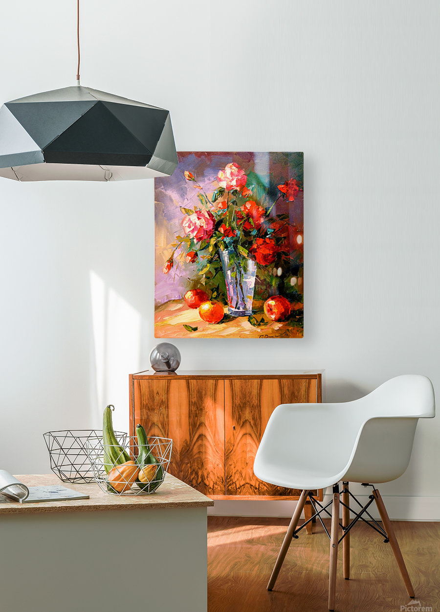 A bouquet of roses  HD Metal print with Floating Frame on Back
