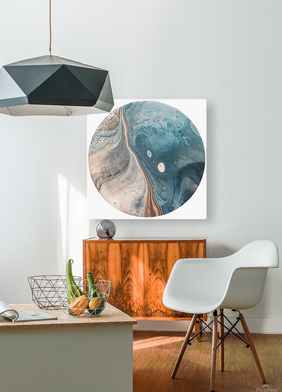 Tide  HD Metal print with Floating Frame on Back