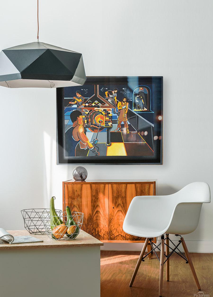 La verrerie   HD Metal print with Floating Frame on Back