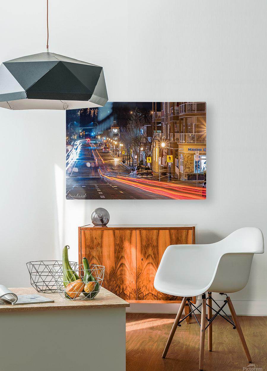 PerronSt_Trailights_DSC4885 Edit  HD Metal print with Floating Frame on Back