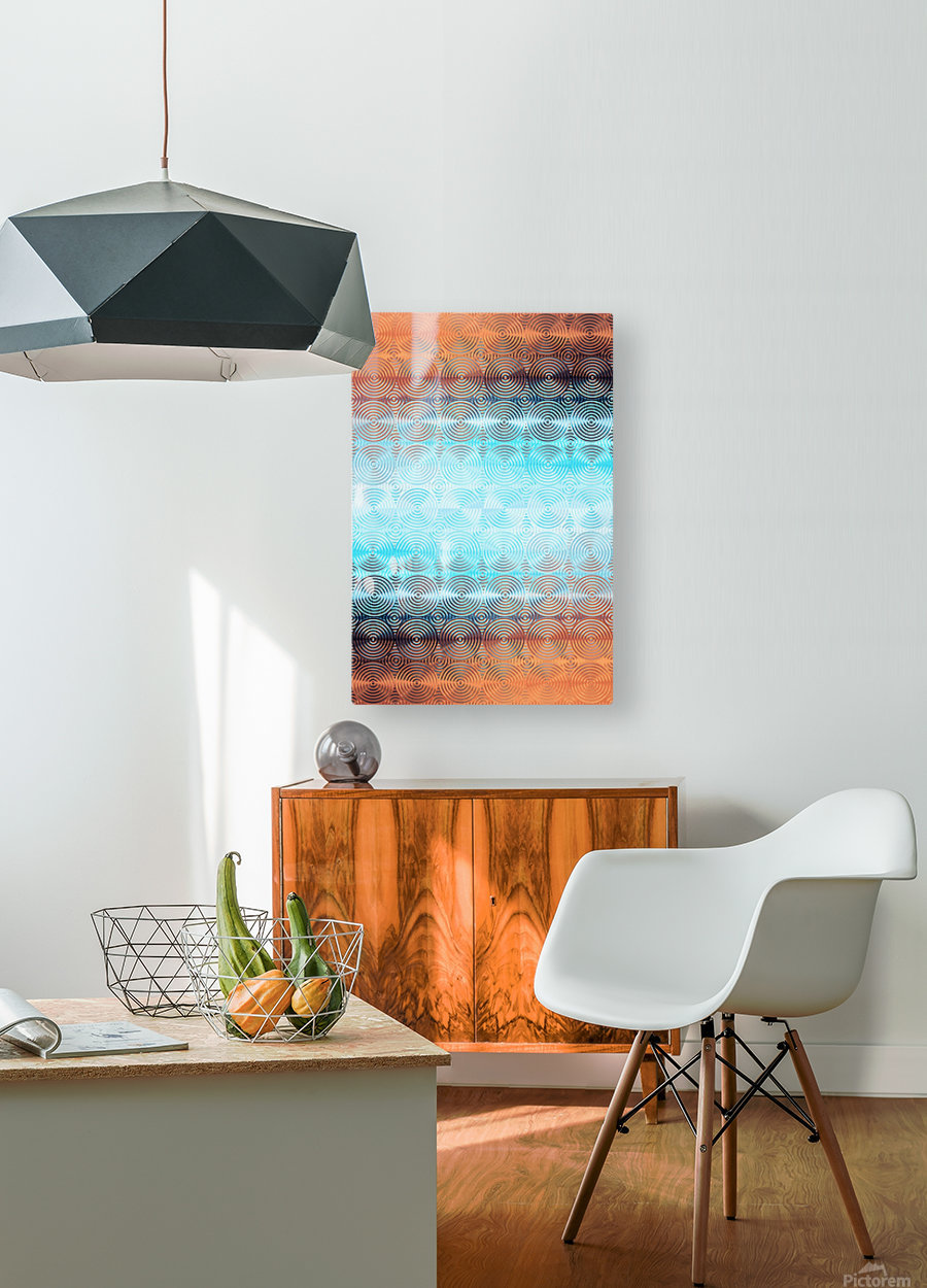 Geometric Pattern  HD Metal print with Floating Frame on Back