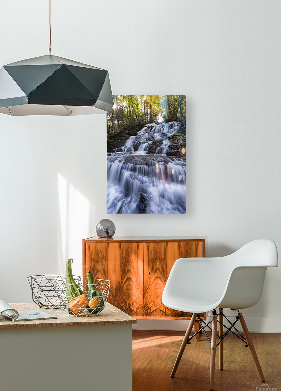 Trahlyta Waterfall  HD Metal print with Floating Frame on Back