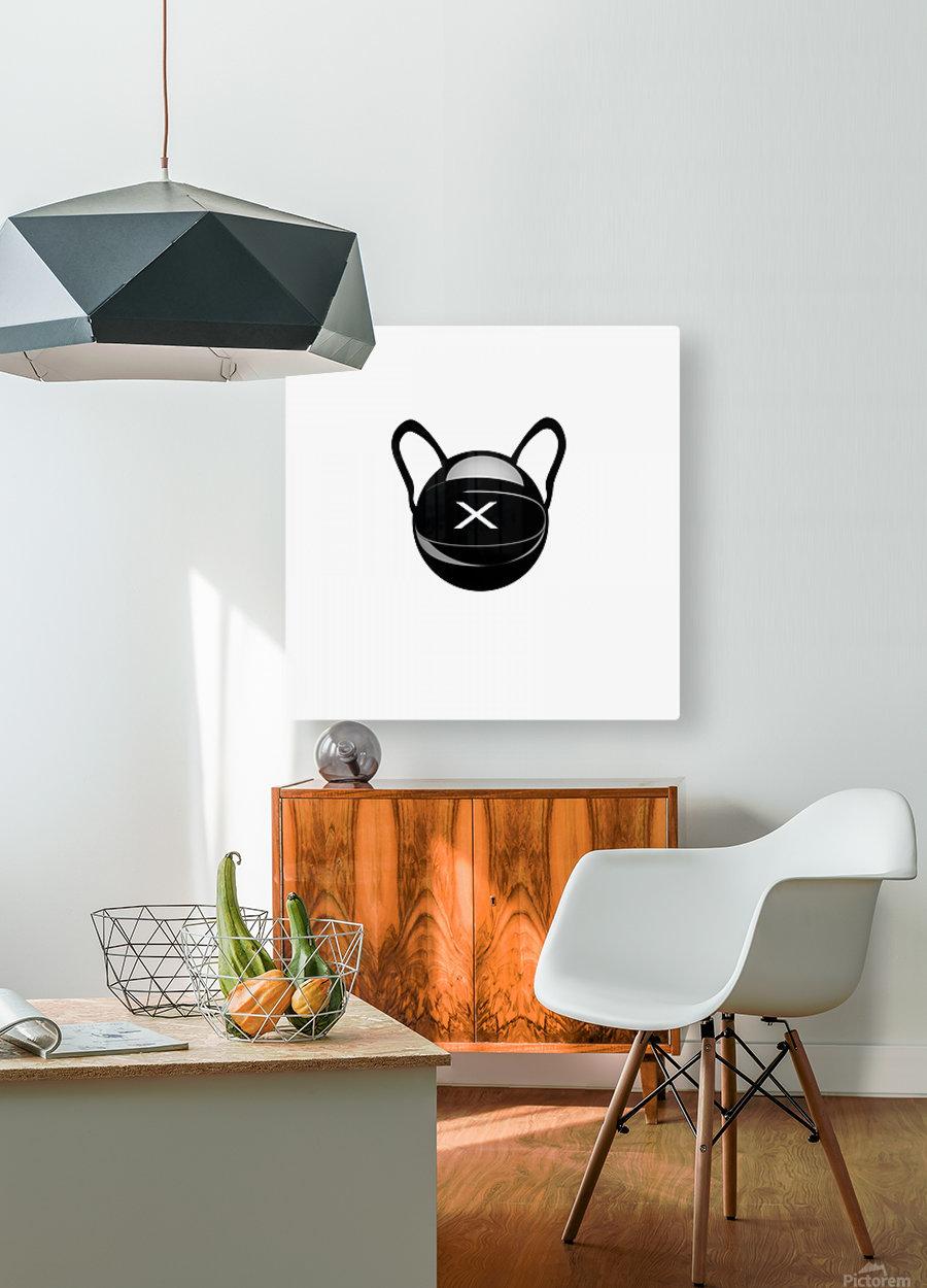 Cozmo Black  HD Metal print with Floating Frame on Back