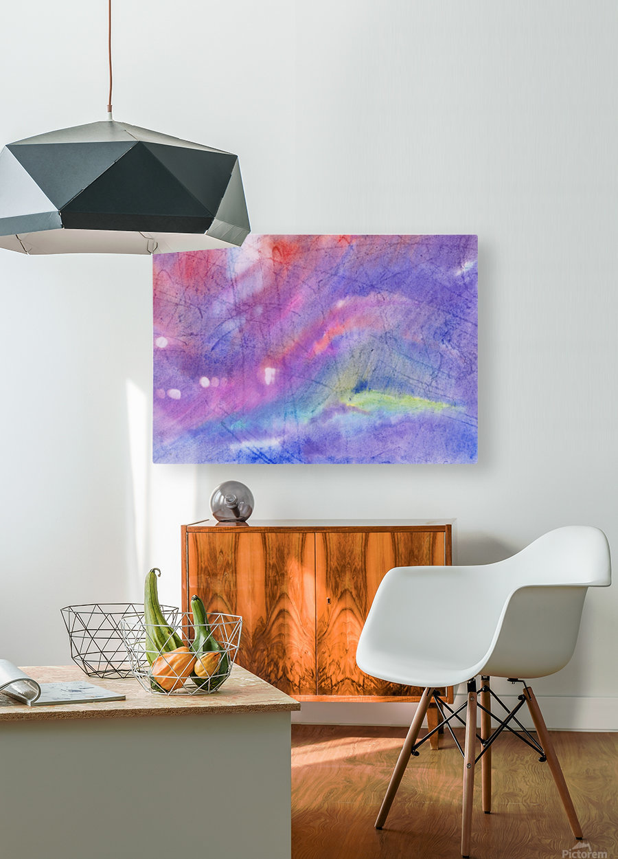 Abstract Mauve wave  HD Metal print with Floating Frame on Back
