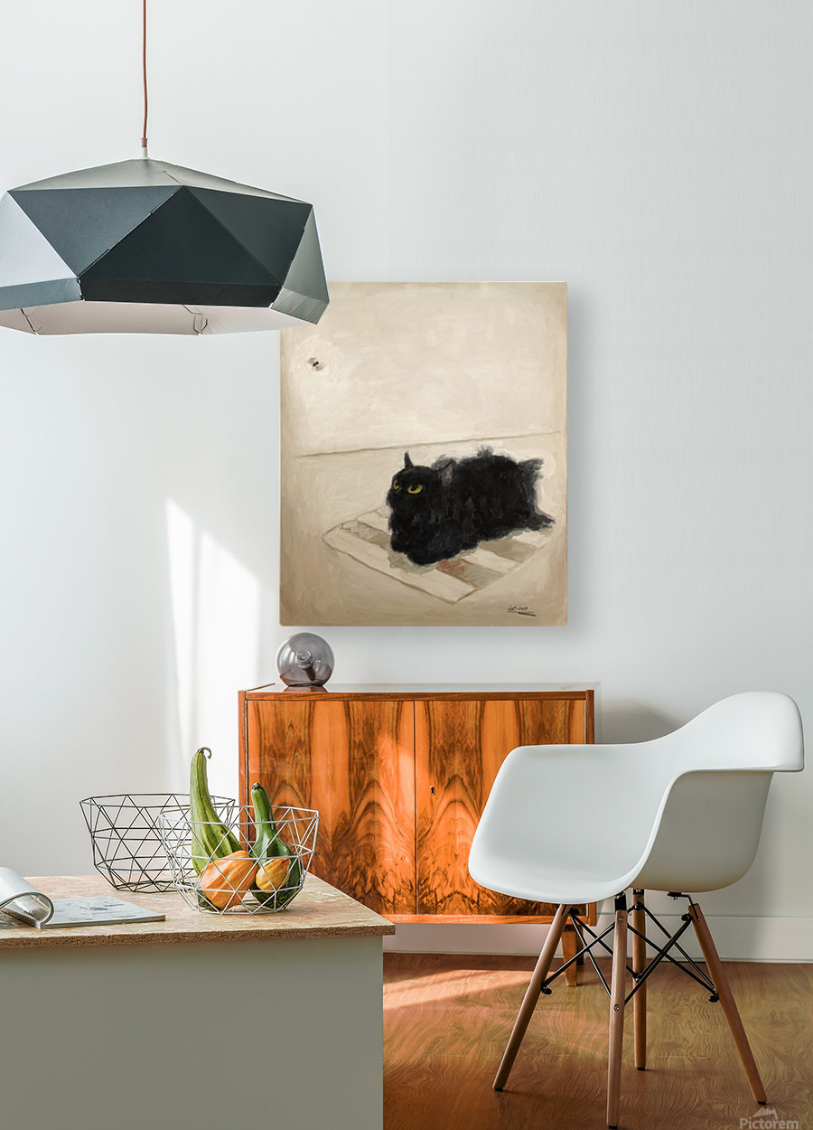A Fly  HD Metal print with Floating Frame on Back