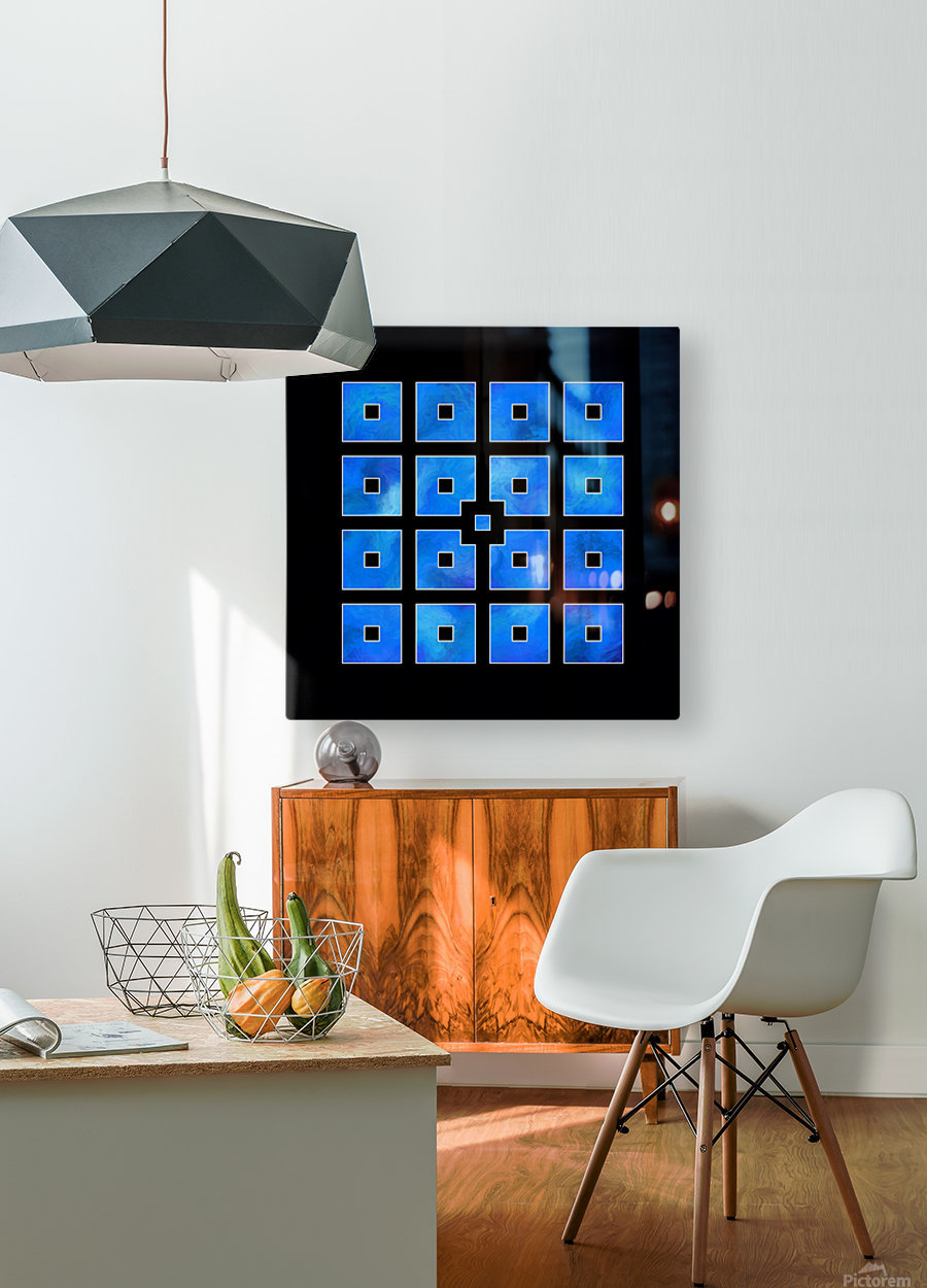 Elora de sous - squares of sea  HD Metal print with Floating Frame on Back