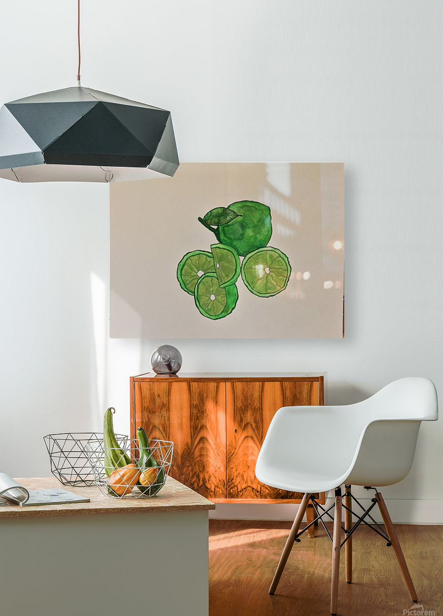 Lime in Szn   HD Metal print with Floating Frame on Back