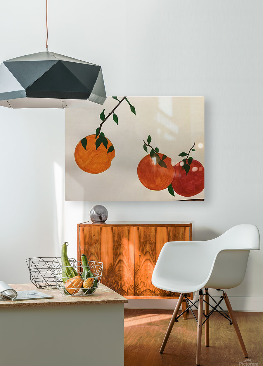 Orange You in Love  HD Metal print with Floating Frame on Back