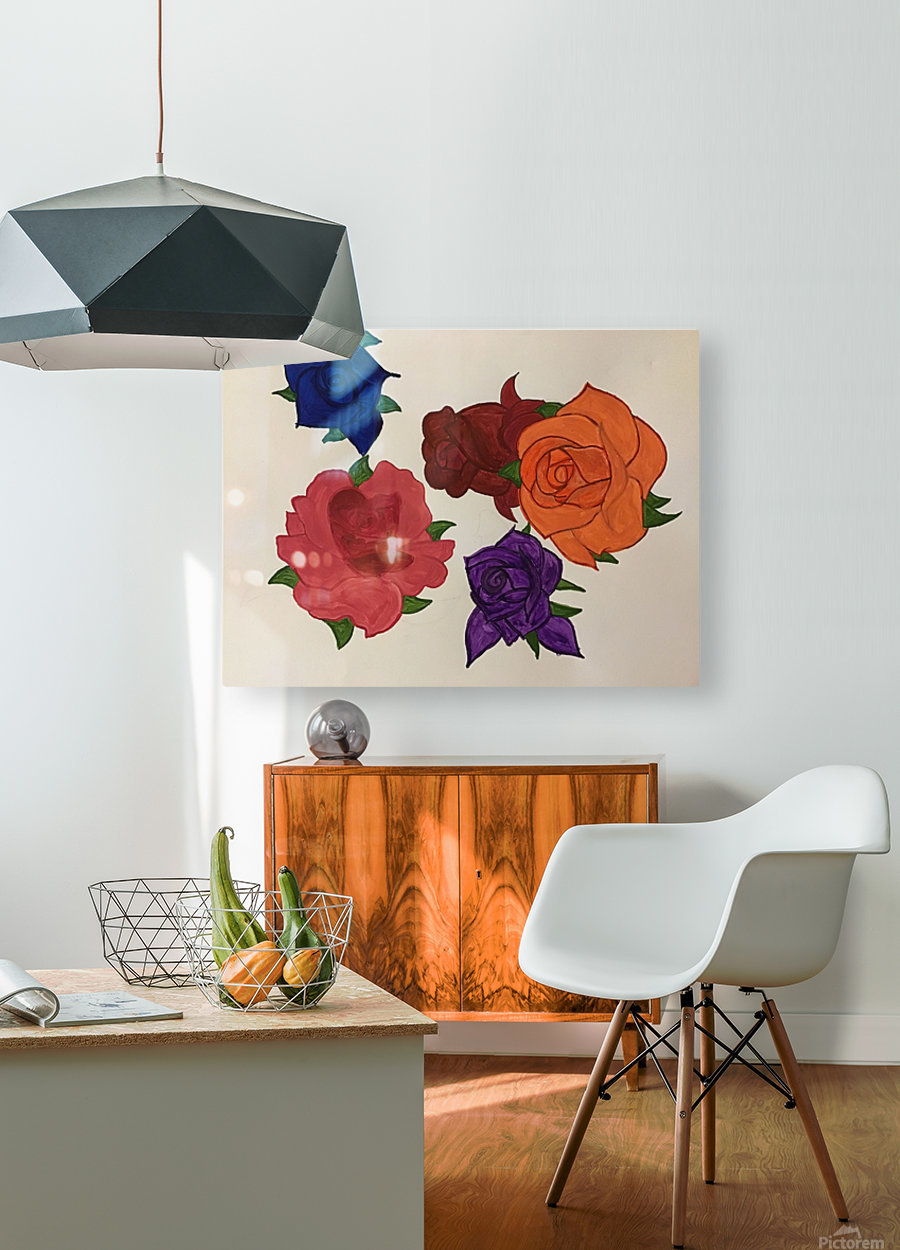 Diversity in Roses  HD Metal print with Floating Frame on Back