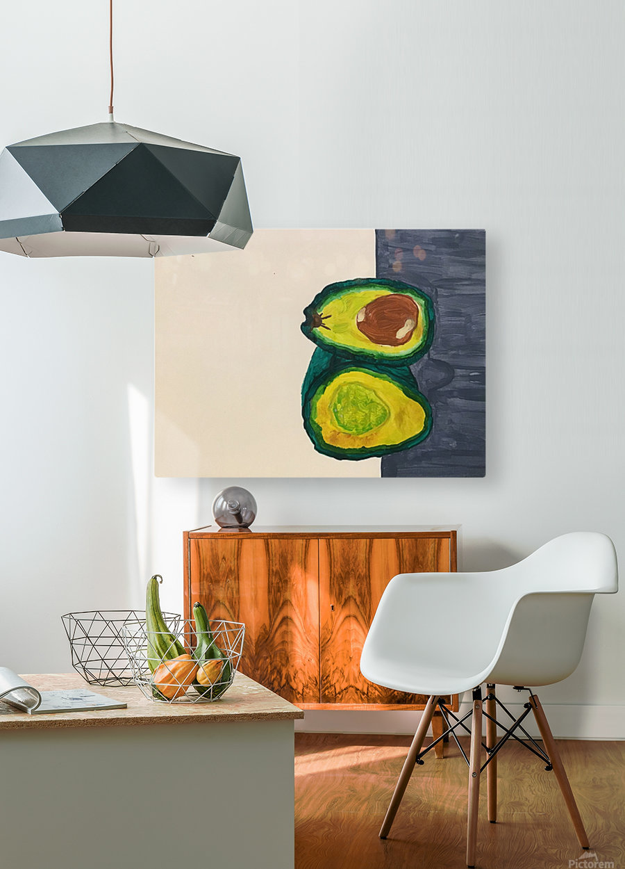 Ripe Avocados  HD Metal print with Floating Frame on Back