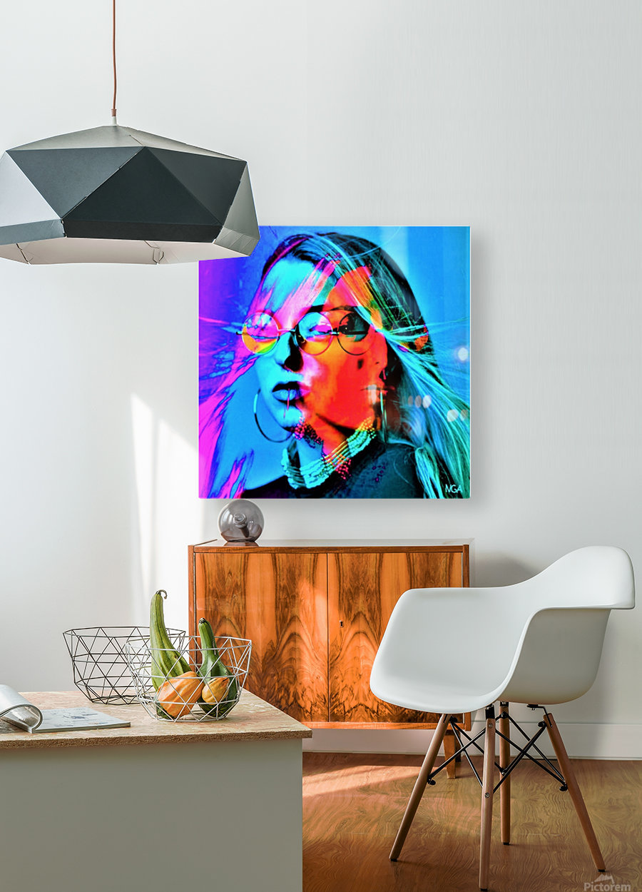 Mystery Girl - by Neil Gairn Adams  HD Metal print with Floating Frame on Back